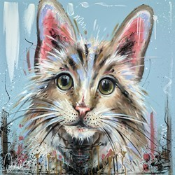 Catitude is Everything II by Samantha Ellis -  sized 30x30 inches. Available from Whitewall Galleries